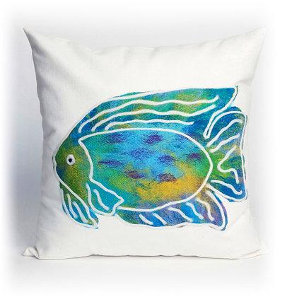 "Visions II Batik Indoor/Outdoor Pillow 20""Square"