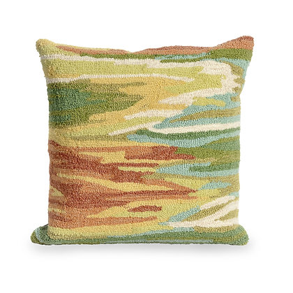 "Frontporch Watercolor Indoor/Outdoor Pillow 18""Square"