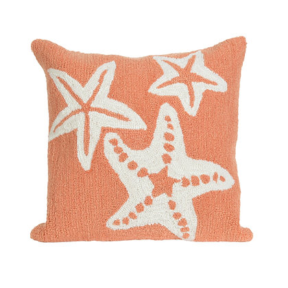 "Frontporch Starfish Indoor/Outdoor Pillow 18""Square"