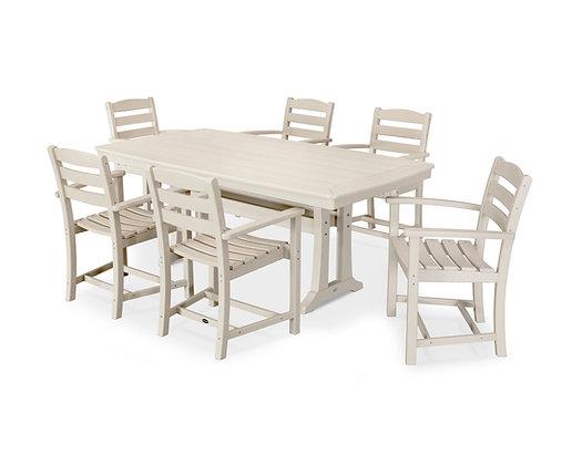 Quick Ship POLYWOOD®7 Piece La Casa Arm Chair Dining Set PWS297-1