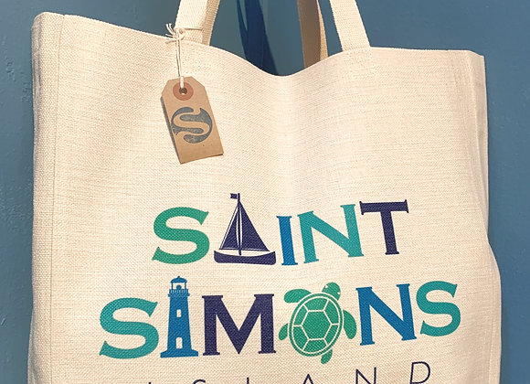 St. Simons Island Linen Tote
