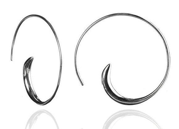 Classic Silver Swirly Earrings
