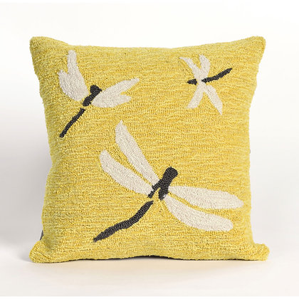 "Frontporch Dragonfly Indoor/Outdoor Pillow 18""Square"