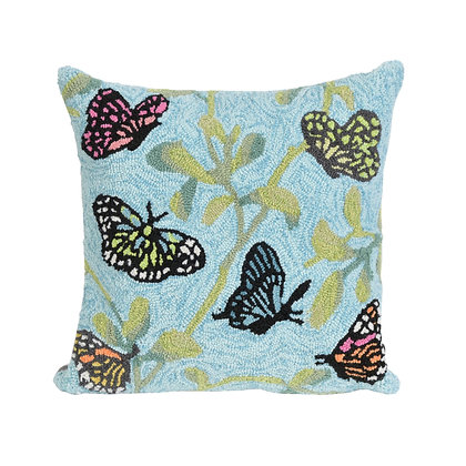 "Frontporch Butterflies Indoor/Outdoor Pillow 18""Square"