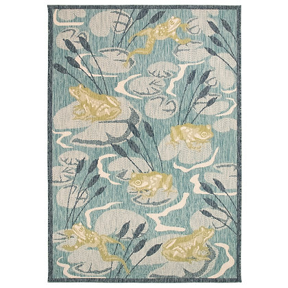 Portofino Frog Pond Indoor/Outdoor Rug