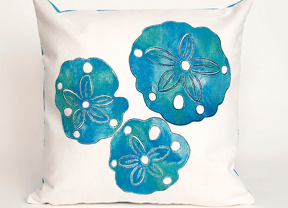 """Visions Sand Dollar Indoor/Outdoor Pillow 20""""Square"""