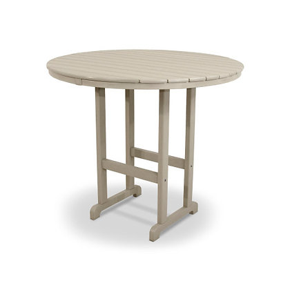 "Quick Ship POLYWOOD® Round 48"" Bar Table RBT248"