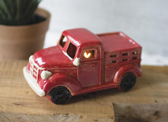Ceramic red truck night light