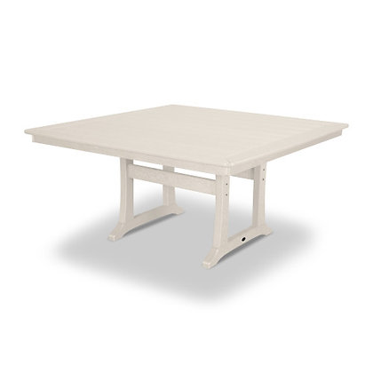 "Quick Ship POLYWOOD® Nautical Trestle 59"" Dining Table PL85-T2L1"