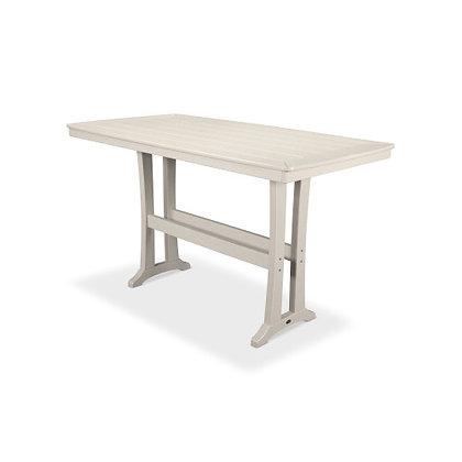 "POLYWOOD® Nautical Trestle 38""x73"" Bar Table PLB83-T2L1"