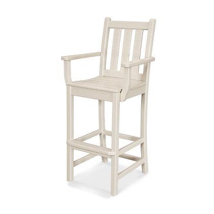 POLYWOOD® Traditional Garden Bar Arm Chair TGD202