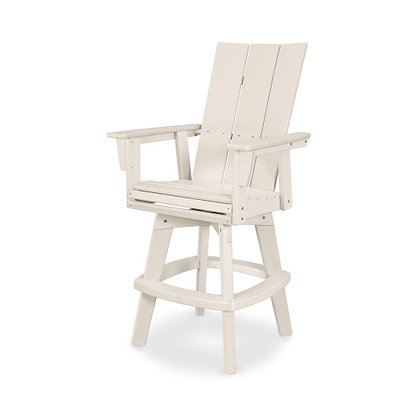 POLYWOOD® Nautical Adirondack Swivel Bar Chair ADDSV612