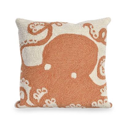 "Frontporch Octopus Indoor/Outdoor Pillow 18""Square"