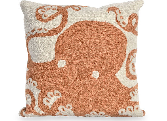 "Frontporch Octopus Indoor/Outdoor Pillow 18""Square"