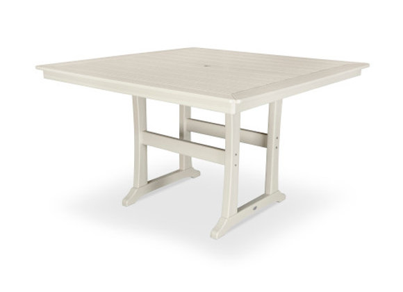 "POLYWOOD® Nautical Trestle 59"" Counter Table PLR85-T2L1"