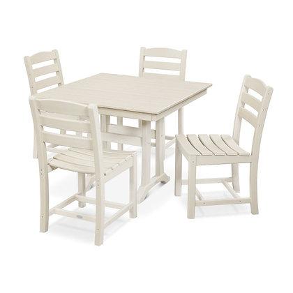 Quick Ship POLYWOOD®La Casa Cafe 5-Pc  Frmhse Trstl Side Chair Set PWS438-1