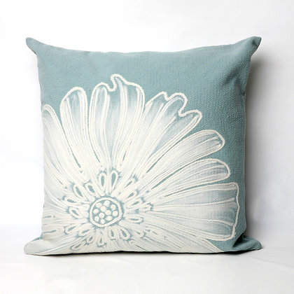 """Visions II Medallion Indoor/Outdoor Pillow 20""""Square"""