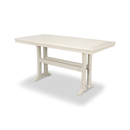 "POLYWOOD® Nautical Trestle 38""x73"" Counter Table PLR83-T2L1"