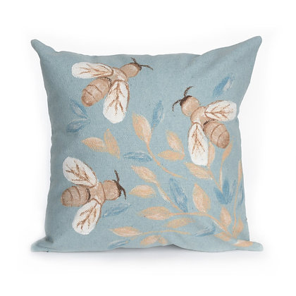 "Visions II Bees Indoor/Outdoor Pillow 20""Square"
