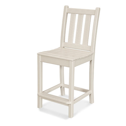 POLYWOOD® Traditional Garden Counter Side Chair TGD101