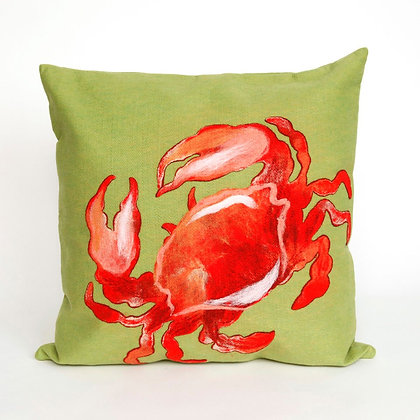"""Visions Crab Indoor/Outdoor Pillow 20""""Square"""