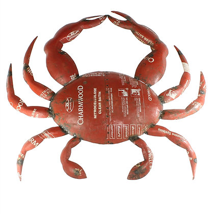 RECLAIMED METAL CRAB - WALL MOUNT OBJECT