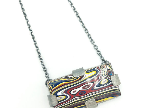 Rectangle Fordite Tab Necklace