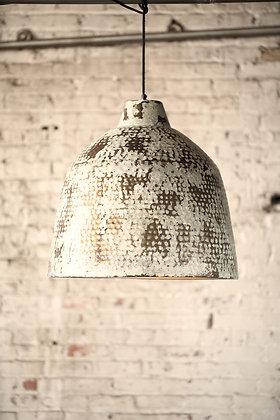 Rustic white metal pendant light
