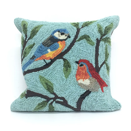 """Frontporch Birds on Branches Indoor/Outdoor Pillow 18""""Square"""