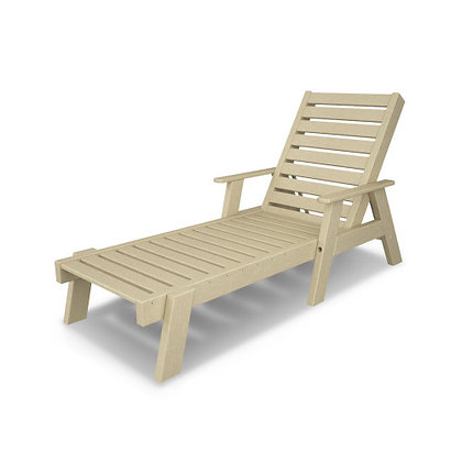 POLYWOOD® Captain Chaise with Arms AC2678-1