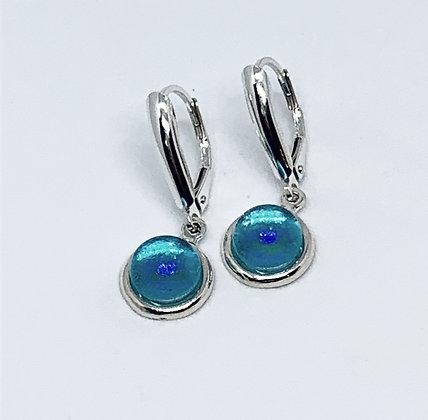 Helena Earrings in Caribbean Opal