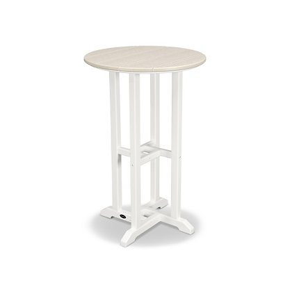 """In Stock POLYWOOD® Contempo 24"""" Round Counter Table RRT224(SHIPPING UNAVAILABLE)"""