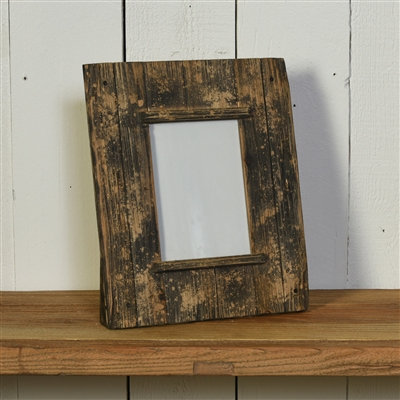 "SHIPLAP FRAME, 5""X7"" HORIZONTAL - NATURAL WOOD & BLACK"