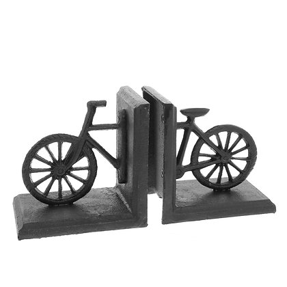 BICYCLE BOOKEND, CAST IRON - BLACK