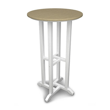 "POLYWOOD® Contempo 24"" Round Bar Table RBT224"