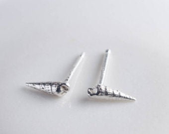 Tiny Auger Shell Post Earrings