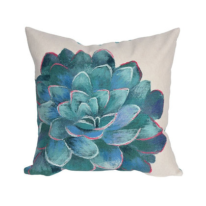 "Visions III Succulent Indoor/Outdoor Pillow 20""Square"