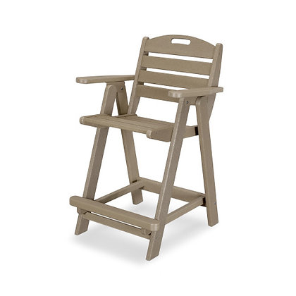 In Stock POLYWOOD® Nautical Counter Chair NCB40 (SHIPPING UNAVAILABLE)
