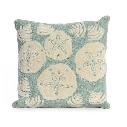 """Frontporch Shells  Indoor/Outdoor Pillow 18""""Square"""