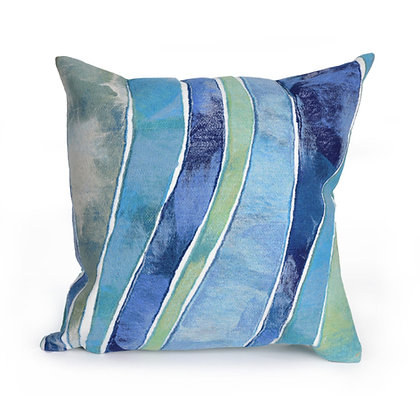"Visions III Waves Indoor/Outdoor Pillow 20""Square"