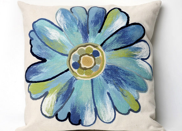 "Visions II Daisy Indoor/Outdoor Pillow 20""Square"
