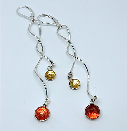 Flavia Earrings in Wheat and Paprika