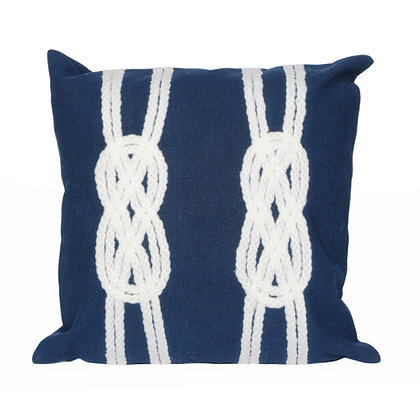 "Visions II Double Knot Indoor/Outdoor Pillow 20""Square"
