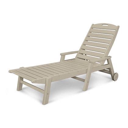 POLYWOOD® Nautical Chaise w/ Arms & Wheels NCW2280
