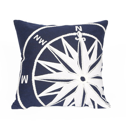 """Visions II Compass Indoor/Outdoor Pillow 20""""Square"""