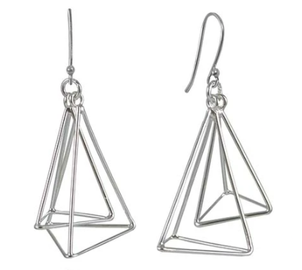 Geometrische Dreiecke Earrings