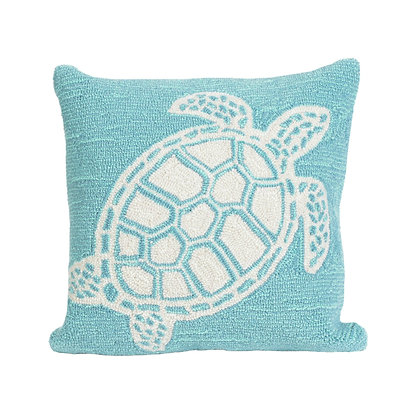"""Frontporch Turtle Indoor/Outdoor Pillow 18""""Square"""