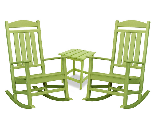 POLYWOOD® 3-PC Presidential Rocking Chair SET