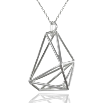 Geometrische Dimensionale Necklace