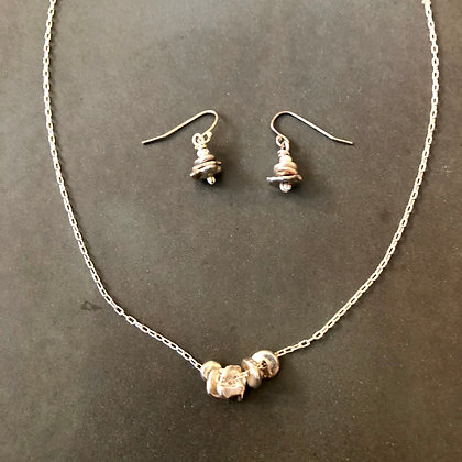 Silver stacking stones Necklace